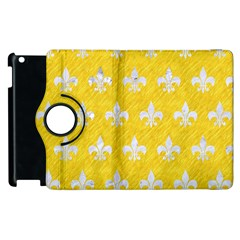 Royal1 White Marble & Yellow Colored Pencil (r) Apple Ipad 3/4 Flip 360 Case by trendistuff