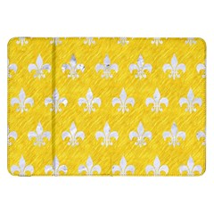 Royal1 White Marble & Yellow Colored Pencil (r) Samsung Galaxy Tab 8 9  P7300 Flip Case by trendistuff