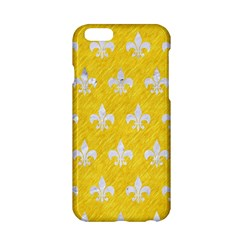Royal1 White Marble & Yellow Colored Pencil (r) Apple Iphone 6/6s Hardshell Case by trendistuff