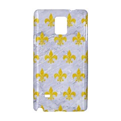 Royal1 White Marble & Yellow Colored Pencil Samsung Galaxy Note 4 Hardshell Case by trendistuff