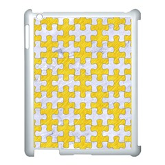 Puzzle1 White Marble & Yellow Colored Pencil Apple Ipad 3/4 Case (white) by trendistuff
