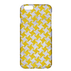 Houndstooth2 White Marble & Yellow Colored Pencil Apple Iphone 6 Plus/6s Plus Hardshell Case by trendistuff