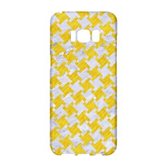 Houndstooth2 White Marble & Yellow Colored Pencil Samsung Galaxy S8 Hardshell Case