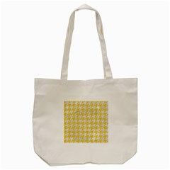 Houndstooth1 White Marble & Yellow Colored Pencil Tote Bag (cream)