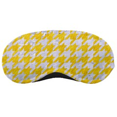 Houndstooth1 White Marble & Yellow Colored Pencil Sleeping Masks by trendistuff