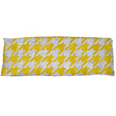 Houndstooth1 White Marble & Yellow Colored Pencil Body Pillow Case Dakimakura (two Sides) by trendistuff