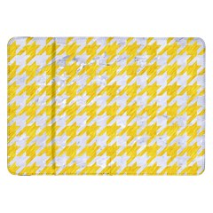 Houndstooth1 White Marble & Yellow Colored Pencil Samsung Galaxy Tab 8 9  P7300 Flip Case by trendistuff