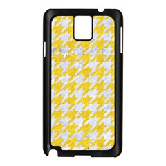 Houndstooth1 White Marble & Yellow Colored Pencil Samsung Galaxy Note 3 N9005 Case (black) by trendistuff