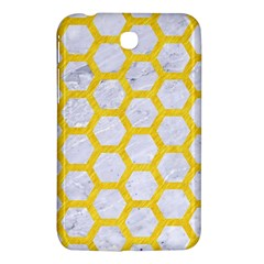 Hexagon2 White Marble & Yellow Colored Pencil (r) Samsung Galaxy Tab 3 (7 ) P3200 Hardshell Case  by trendistuff