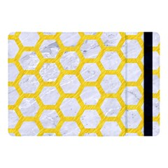 Hexagon2 White Marble & Yellow Colored Pencil (r) Apple Ipad Pro 10 5   Flip Case by trendistuff