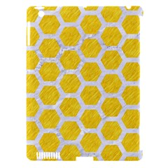 Hexagon2 White Marble & Yellow Colored Pencil Apple Ipad 3/4 Hardshell Case (compatible With Smart Cover) by trendistuff
