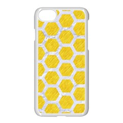 Hexagon2 White Marble & Yellow Colored Pencil Apple Iphone 8 Seamless Case (white)