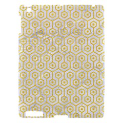 Hexagon1 White Marble & Yellow Colored Pencil (r) Apple Ipad 3/4 Hardshell Case by trendistuff