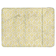Hexagon1 White Marble & Yellow Colored Pencil (r) Samsung Galaxy Tab 7  P1000 Flip Case by trendistuff