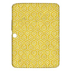Hexagon1 White Marble & Yellow Colored Pencil Samsung Galaxy Tab 3 (10 1 ) P5200 Hardshell Case  by trendistuff