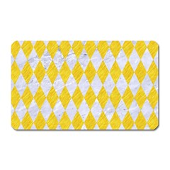 Diamond1 White Marble & Yellow Colored Pencil Magnet (rectangular)