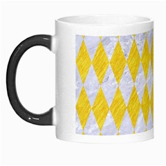 Diamond1 White Marble & Yellow Colored Pencil Morph Mugs by trendistuff
