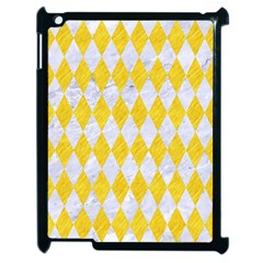 Diamond1 White Marble & Yellow Colored Pencil Apple Ipad 2 Case (black) by trendistuff