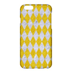 Diamond1 White Marble & Yellow Colored Pencil Apple Iphone 6 Plus/6s Plus Hardshell Case by trendistuff