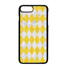 Diamond1 White Marble & Yellow Colored Pencil Apple Iphone 8 Plus Seamless Case (black)