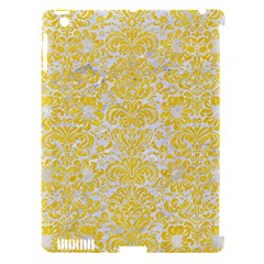 Damask2 White Marble & Yellow Colored Pencil (r) Apple Ipad 3/4 Hardshell Case (compatible With Smart Cover) by trendistuff