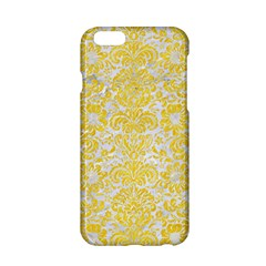 Damask2 White Marble & Yellow Colored Pencil (r) Apple Iphone 6/6s Hardshell Case by trendistuff