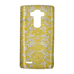 Damask2 White Marble & Yellow Colored Pencil (r) Lg G4 Hardshell Case by trendistuff