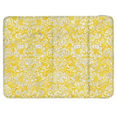 Damask2 White Marble & Yellow Colored Pencil Samsung Galaxy Tab 7  P1000 Flip Case by trendistuff
