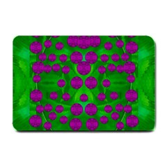 The Pixies Dance On Green In Peace Small Doormat  by pepitasart
