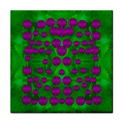 The Pixies Dance On Green In Peace Face Towel by pepitasart