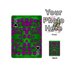 The Pixies Dance On Green In Peace Playing Cards 54 (mini)  by pepitasart