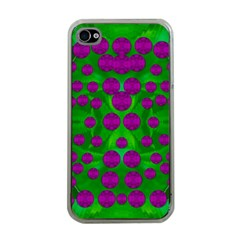 The Pixies Dance On Green In Peace Apple Iphone 4 Case (clear) by pepitasart