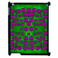 The Pixies Dance On Green In Peace Apple Ipad 2 Case (black) by pepitasart