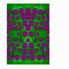 The Pixies Dance On Green In Peace Large Garden Flag (two Sides) by pepitasart