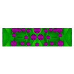 The Pixies Dance On Green In Peace Satin Scarf (oblong) by pepitasart