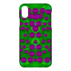 The Pixies Dance On Green In Peace Apple Iphone X Hardshell Case by pepitasart