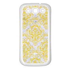 Damask1 White Marble & Yellow Colored Pencil (r) Samsung Galaxy S3 Back Case (white)