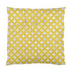 Circles3 White Marble & Yellow Colored Pencil (r) Standard Cushion Case (one Side) by trendistuff