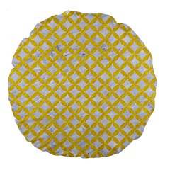 Circles3 White Marble & Yellow Colored Pencil (r) Large 18  Premium Flano Round Cushions by trendistuff