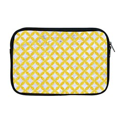 Circles3 White Marble & Yellow Colored Pencil (r) Apple Macbook Pro 17  Zipper Case by trendistuff