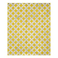 Circles3 White Marble & Yellow Colored Pencil Shower Curtain 60  X 72  (medium)  by trendistuff