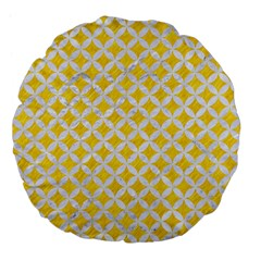Circles3 White Marble & Yellow Colored Pencil Large 18  Premium Flano Round Cushions by trendistuff