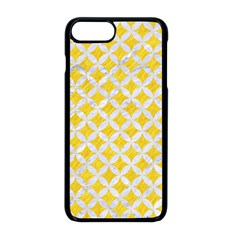 Circles3 White Marble & Yellow Colored Pencil Apple Iphone 8 Plus Seamless Case (black) by trendistuff