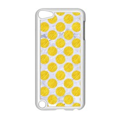 Circles2 White Marble & Yellow Colored Pencil (r) Apple Ipod Touch 5 Case (white) by trendistuff