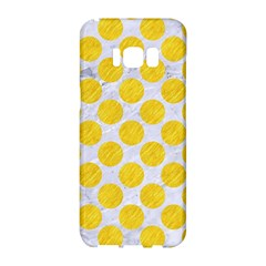 Circles2 White Marble & Yellow Colored Pencil (r) Samsung Galaxy S8 Hardshell Case  by trendistuff