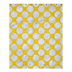 Circles2 White Marble & Yellow Colored Pencil Shower Curtain 60  X 72  (medium)  by trendistuff
