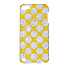 Circles2 White Marble & Yellow Colored Pencil Apple Ipod Touch 5 Hardshell Case by trendistuff