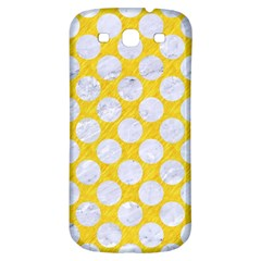 Circles2 White Marble & Yellow Colored Pencil Samsung Galaxy S3 S Iii Classic Hardshell Back Case by trendistuff