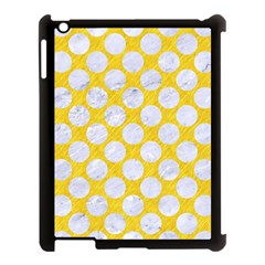 Circles2 White Marble & Yellow Colored Pencil Apple Ipad 3/4 Case (black) by trendistuff