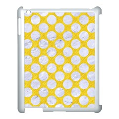 Circles2 White Marble & Yellow Colored Pencil Apple Ipad 3/4 Case (white) by trendistuff